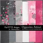 Opposites Attract Hotmess Solids Paper Pack-$2.99 (Fayette Designs)
