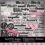 Opposites Attract WordArt Pack-$1.40 (Fayette Designs)
