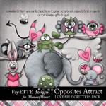 Opposites Attract Loveable Critters Pack-$2.45 (Fayette Designs)