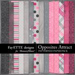 Opposites Attract Patterned Paper Pack-$2.10 (Fayette Designs)