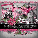 Opposites Attract Embellishment Pack-$2.45 (Fayette Designs)