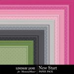 New Start Embossed Paper Pack-$1.40 (Lindsay Jane)