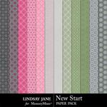New Start Pattern Paper Pack-$1.99 (Lindsay Jane)