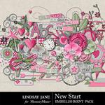 New Start Embellishment Pack-$3.49 (Lindsay Jane)
