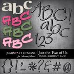 Just the Two of Us Alphabet Pack-$3.99 (Jumpstart Designs)