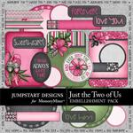 Just the Two of Us Journal Bits-$2.39 (Jumpstart Designs)