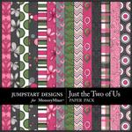 Just the Two of Us Patterned Paper Pack-$3.49 (Jumpstart Designs)