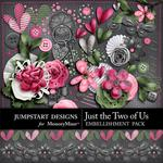 Just the Two of Us Add On Embellishment Pack-$2.10 (Jumpstart Designs)