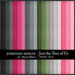 Just the Two of Us Solid Paper Pack-$1.79 (Jumpstart Designs)