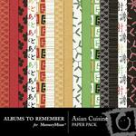 Asian Cuisine Paper Pack-$3.99 (Albums to Remember)