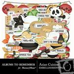 Asian Cuisine Embellishment Pack-$3.49 (Albums to Remember)