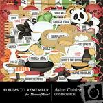 Asian Cuisine Combo Pack-$4.99 (Albums to Remember)