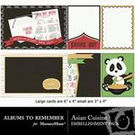 Asian Cuisine Journal Cards-$2.49 (Albums to Remember)