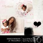 Secret Of My Heart Vol 1 QuickPage-$1.49 (Indigo Designs)