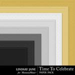 Time to Celebrate LJ Embossed Paper Pack-$1.99 (Lindsay Jane)