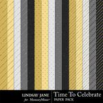 Time to Celebrate LJ Glitter Paper Pack-$1.99 (Lindsay Jane)