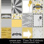 Time to Celebrate LJ Journal Cards-$1.99 (Lindsay Jane)