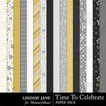 Time to Celebrate LJ Paper Pack-$2.49 (Lindsay Jane)