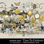 Time to Celebrate LJ Embellishment Pack-$3.49 (Lindsay Jane)