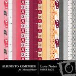 Love Notes ATR Paper Pack-$3.99 (Albums to Remember)