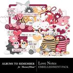 Love Notes ATR Embellishment Pack-$3.49 (Albums to Remember)