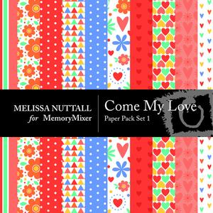 Come my love paper set 1 preview mm medium