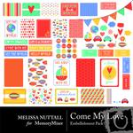 Come My Love Embellishment Pack-$2.99 (Melissa Nuttall)