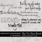 The Tie That Binds WordArt Pack-$2.49 (Laura Burger)