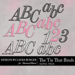 The Tie That Binds Alphabet Pack-$2.49 (Laura Burger)