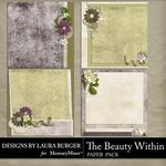 The Beauty Within Stacked Paper Pack 2-$3.49 (Laura Burger)