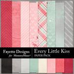 Every Little Kiss Paper Pack-$3.99 (Fayette Designs)
