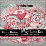 Every Little Kiss Embellishment Pack-$3.49 (Fayette Designs)