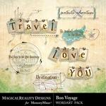 Bon Voyage WordArt Pack-$2.10 (MagicalReality Designs)