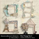 Bon Voyage Clusters Pack 2-$3.99 (MagicalReality Designs)