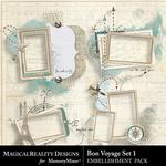 Bon Voyage Clusters Pack 1-$3.99 (MagicalReality Designs)