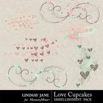 Love Cupcakes LJ Scatterz Pack-$1.40 (Lindsay Jane)
