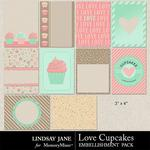Love Cupcakes LJ Journal Cards-$1.40 (Lindsay Jane)