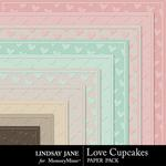 Love Cupcakes LJ Embossed Paper Pack-$1.99 (Lindsay Jane)
