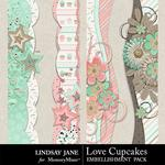 Love Cupcakes LJ Border Pack-$1.99 (Lindsay Jane)