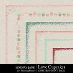 Love Cupcakes LJ Edge Pack-$1.40 (Lindsay Jane)