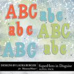 SuperHero in Disguise Alphabet Pack-$2.49 (Laura Burger)