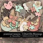 I Dont Do Mornings Cork Accents Pack-$1.75 (Jumpstart Designs)