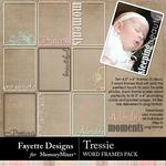 Tressie Word Frames Pack-$2.99 (Fayette Designs)
