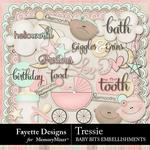 Tressie Baby Bits Embellishment Pack-$3.99 (Fayette Designs)