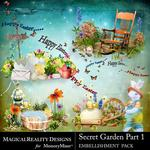 Secret Garden 1 MR Cluster Pack-$3.99 (MagicalReality Designs)
