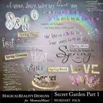 Secret Garden 1 MR WordArt Pack-$2.99 (MagicalReality Designs)