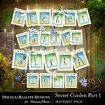 Secret Garden 1 MR Alphabet Pack-$3.49 (MagicalReality Designs)