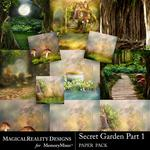 Secret Garden 1 MR Paper Pack 2-$3.99 (MagicalReality Designs)