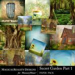 Secret Garden 1 MR Paper Pack 1-$3.99 (MagicalReality Designs)