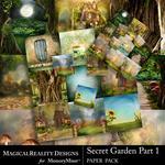 Secret Garden 1 MR Paper Pack Bundle-$2.50 (MagicalReality Designs)